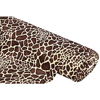 Wellness-Fleece 'Giraffe', beige/braun