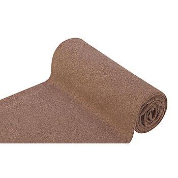 Rippen-Bündchenstoff 'Comfort', taupe-melange