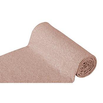 Rippen-Bündchenstoff 'Comfort', helltaupe-melange