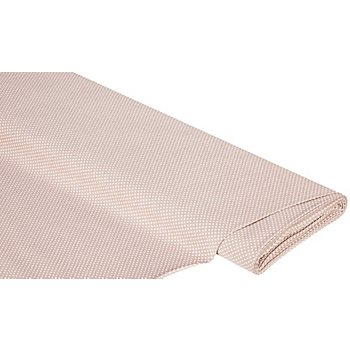 Tissu coton 'pois', praliné/blanc