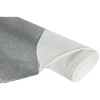 Tissu polaire 'bicolore', gris mélangé/blanc