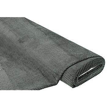 Möbelstoff Waffelvelours, graphit