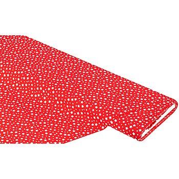 Baumwollstoff Sternchen 'Mona', rot/weiß