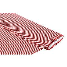 Baumwollstoff Streifen 'Mona', rot/weiss, 4mm
