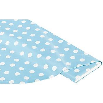 Abwaschbare Tischwäsche - Wachstuch Tupfen, hellblau/weiß