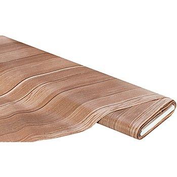 Abwaschbare Tischwäsche - Wachstuch Holz-Design, braun-color