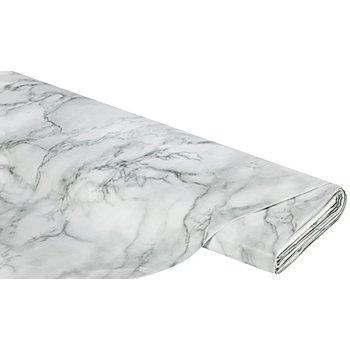 Abwaschbare Tischwäsche - Wachstuch Marmor-Design, hellgrau-color