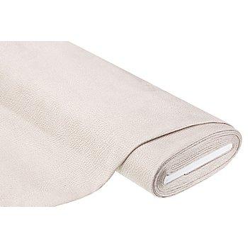 Tissu d'ameublement - similicuir nappa, écru