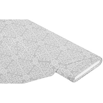 Dekostoff 'Vintage Kristalle', grau