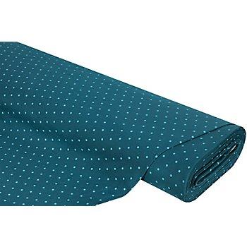 Tissu sweat-shirt 'pois', pétrole/turquoise