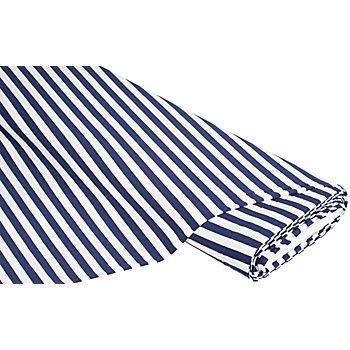 Streifen-Jersey dunkelblau/weiß