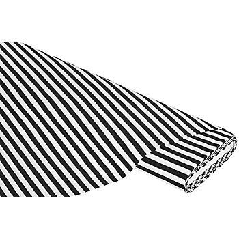Streifen-Jersey, schwarz/weiss