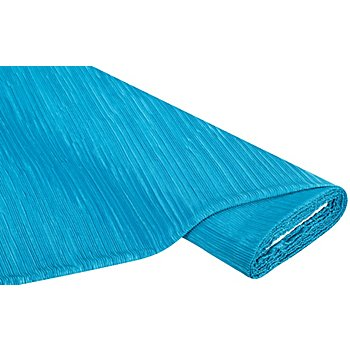 Tissu plissé léger, bleu