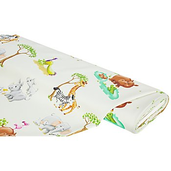 Tissu occultant en polyester 'animaux du Safari'