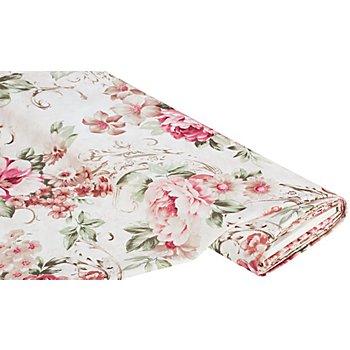 Dekotaft 'Vintage Blumen', natur-color