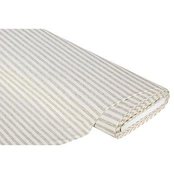 Baumwolljersey 'Streifen' mit Elasthan, grau melange
