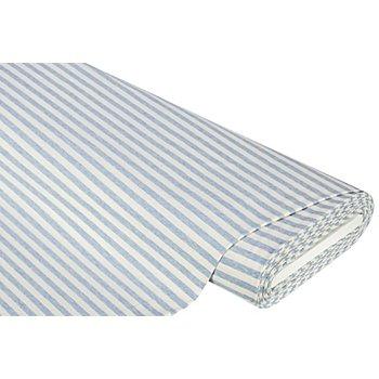 Baumwolljersey 'Streifen' mit Elasthan, blau melange
