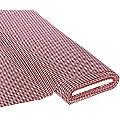 """Tissu coton """"carreaux vichy"""", 5 x 5 mm, bordeaux/blanc"""