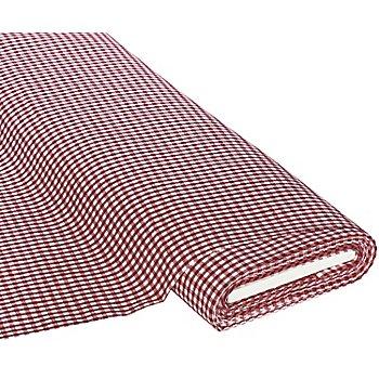 Tissu coton 'carreaux vichy', 5 x 5 mm, bordeaux/blanc