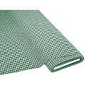 Buntgewebtes Vichykaro 5 x 5 mm, grün/weiss