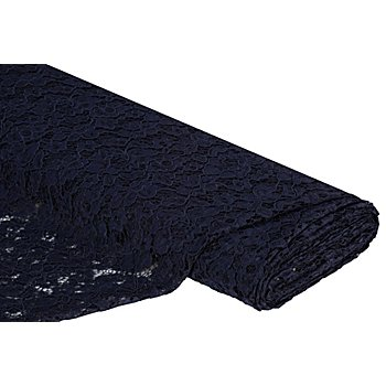Tissu dentelle 'Amélie', bleu marine