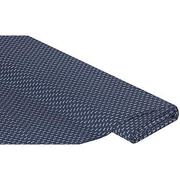 Tissu coton maritime 'ancre', bleu marine/blanc