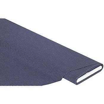 Tissu coton à pois 'Mona', bleu marine/blanc, 2 mm Ø
