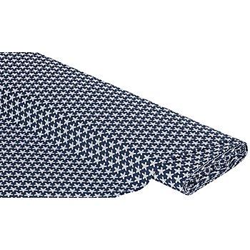 Maritimer Baumwollstoff 'Seesterne', marine/weiss