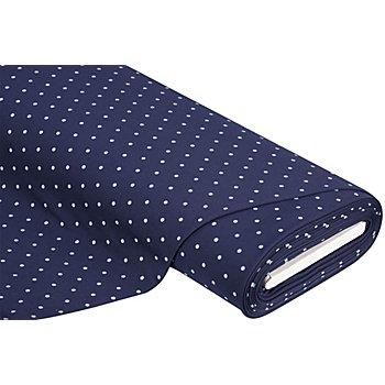 Tissu sweat-shirt 'pois', bleu marine/bleu