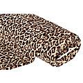 """Tissu polaire """"léopard"""", marron multicolore"""