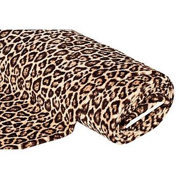 Tissu polaire 'léopard', marron multicolore