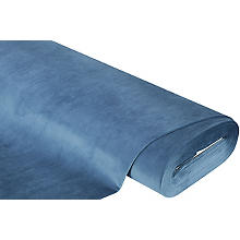 Tissu d'ameublement velouté 'brillant', bleu, ignifuge