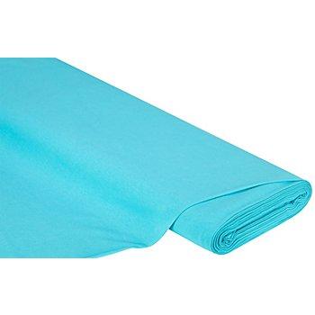 Tissu jersey en coton uni, turquoise