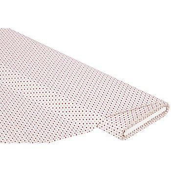Tissu coton 'cœurs miniatures', taupe/multicolore