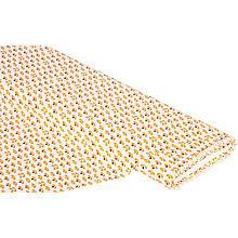 Baumwollstoff Abstrakte Retroblüte 'Bella', weiß-color