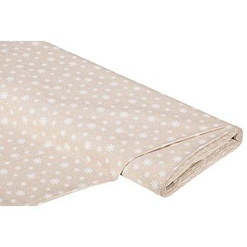 Tissu coton 'cristaux de glace', écru/blanc