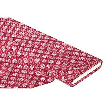 Baumwollstoff grafische Blume 'Mona', marsala