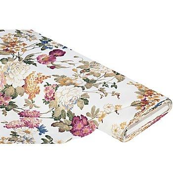 Dekostoff 'Sophie' mit Blumenmuster, natur-color