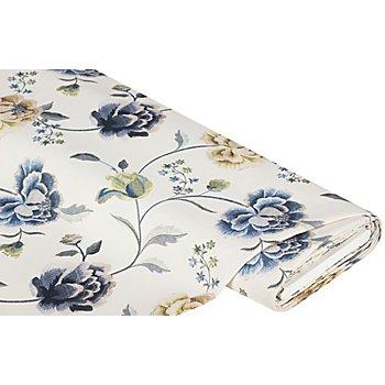 Dekostoff 'Helene' mit Blumenmuster, blau-color