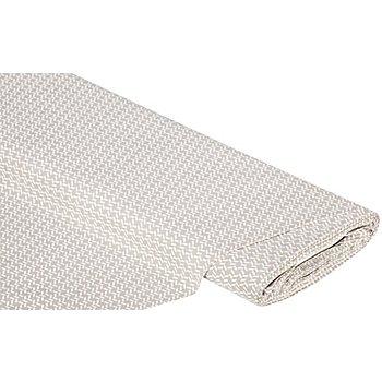 Baumwollstoff Casket 'Bella', natur/weiß