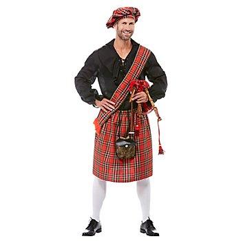 Schotten-Set für Erwachsene, rot-kariert