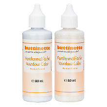 buttinette Glitterfarbe für Window Color in verschiedenen Farbtönen, 80 ml