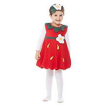 Robe 'fraises' pour enfants