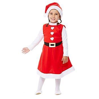 Weihnachtsfrau-Kostüm 'Santa Girl' für Kinder