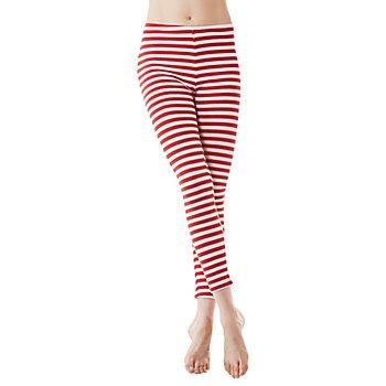 Legging 'rayures rouges', rouge/blanc