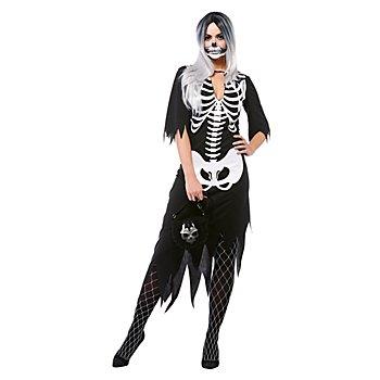 Skelett-Kostüm 'Diva Dead' für Damen