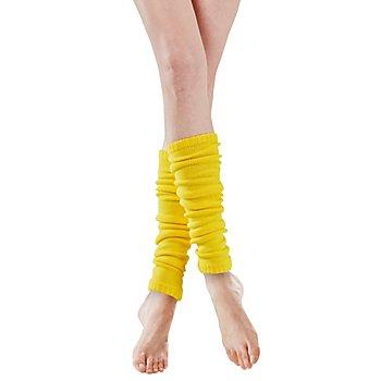 Strickbeinstulpen, gelb