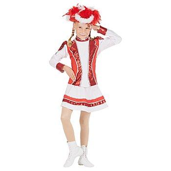 buttinette Gardekostüm rot/weiß/silber für Kinder