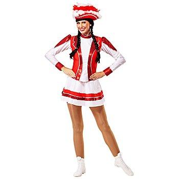 buttinette Gardekostüm rot/weiß/silber für Damen