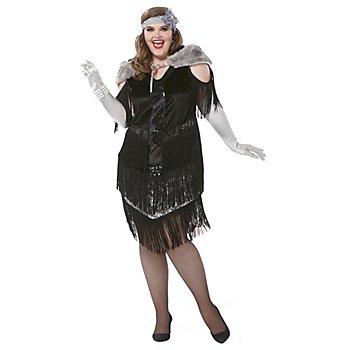 Charleston-Kostüm 'Lady Noir' für Damen